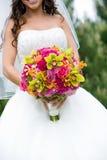 Bruids huwelijksboeket Royalty-vrije Stock Foto