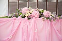 Bruids lijstdecoratie Stock Fotografie