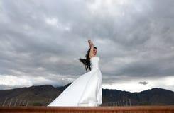 Bruids modellering royalty-vrije stock afbeelding