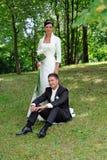 Bruids paar Stock Fotografie