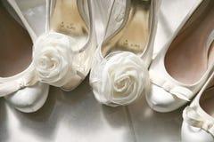 Bruids schoenen Stock Afbeeldingen