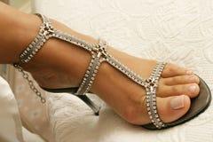 Bruids schoenen stock afbeelding