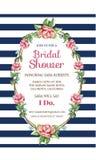 Bruids Uitnodigingskaart Stock Foto