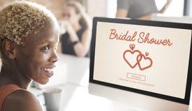Bruids van de de Partijviering van de Douchevrijgezellin het Huwelijksconcept royalty-vrije stock foto's