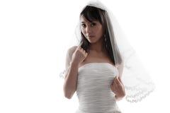 Bruids wit Royalty-vrije Stock Afbeelding