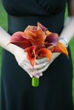 Bruidsmeisje met Boeket Royalty-vrije Stock Afbeelding