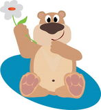 Bruin. Image of large mammalian bear as merry toy Royalty Free Illustration