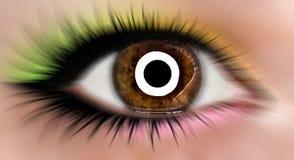 Bruin abstract oog Royalty-vrije Stock Afbeeldingen