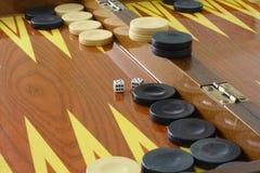 Bruin backgammon Stock Foto's