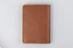 Bruin de notaboek van de leerkunst stock afbeelding