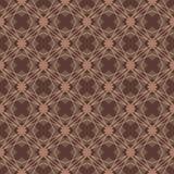 Bruin de vorm naadloos patroon van de kleurendiamant Stock Foto