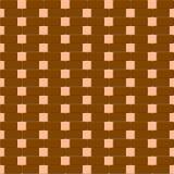 Bruin en beige bakstenen muur naadloos patroon Stock Foto's