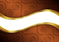 Bruin en gouden abstract malplaatje als achtergrond voor website, banner, adreskaartje, uitnodiging Stock Afbeelding