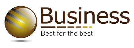 Bruin en het gouden project van het embleem Stock Fotografie