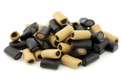 Bruin en zwart zoethout Royalty-vrije Stock Foto's