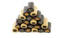 Bruin en zwart zoethout Royalty-vrije Stock Foto