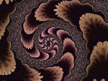 Bruin Fractal Spiraalvormig 2d Patroon Royalty-vrije Stock Foto's