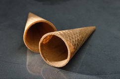 Bruin geïsoleerd Sugar Cone Royalty-vrije Stock Foto's