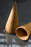 Bruin geïsoleerd Sugar Cone Royalty-vrije Stock Afbeelding