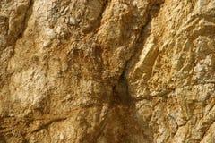 Bruin-gele rots Royalty-vrije Stock Foto