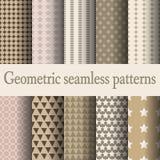 Bruin geometrisch naadloos patroon Royalty-vrije Stock Afbeeldingen