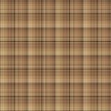 Bruin Geruit Patroon Royalty-vrije Stock Afbeelding