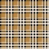 Bruin Geruit Schots wollen stof naadloos patroon, Vectorillustratie eps 10 royalty-vrije illustratie