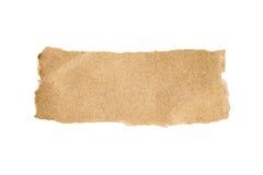 Bruin gescheurd document stock afbeelding