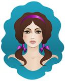 Bruin-haired met bruine ogen Royalty-vrije Stock Fotografie