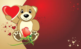 Bruin with a heart. Background for card to the Val Royalty Free Stock Image