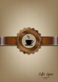 Bruin het menuontwerp van het koffiehuis Stock Afbeeldingen