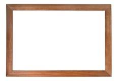 Bruin houten fotoframe stock afbeelding