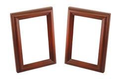 Bruin houten frame twee Royalty-vrije Stock Afbeelding