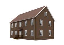 Bruin huis Stock Foto's