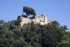 Bruin kasteel Portofino, Italië Royalty-vrije Stock Afbeelding