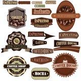 Bruin koffiebedrijf Royalty-vrije Stock Afbeeldingen