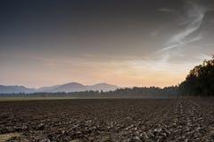 Bruin Landschap in Uitgebreide Mening Stock Fotografie