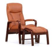 Bruin leer recliner Royalty-vrije Stock Afbeelding