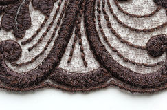 Bruin materieel de textuur macroschot van het bloemkant Royalty-vrije Stock Afbeelding