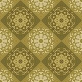 Bruin Naadloos abstract ornament, vectorpatroon stock illustratie