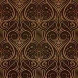 Bruin naadloos behang Vector Illustratie
