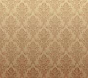 Bruin naadloos behangpatroon Stock Afbeeldingen
