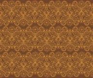 Bruin Naadloos BloemenPatroon Royalty-vrije Stock Afbeeldingen