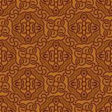Bruin naadloos ornament Royalty-vrije Illustratie