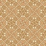 Bruin naadloos ornament Stock Illustratie