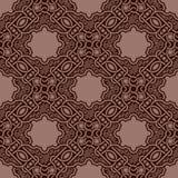 Bruin naadloos ornament Vector Illustratie