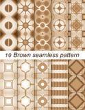 Bruin naadloos patroon Royalty-vrije Stock Foto's