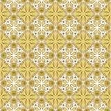 Bruin naadloos patroon met mandalas Royalty-vrije Stock Foto's