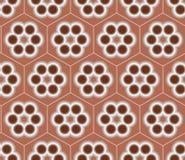 Bruin Naadloos van het Bloempatroon Vectorontwerp Als achtergrond Royalty-vrije Illustratie