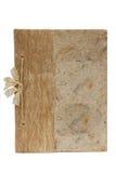 Bruin notaboek stock afbeeldingen